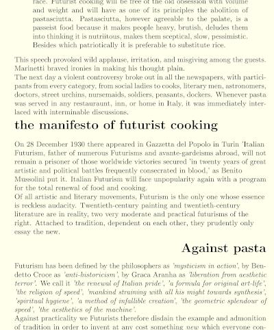 Preview of Futurist Cookbook